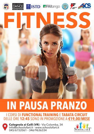 Fitness in pausa pranzo a Colognola ai Colli, Soave, San Bonifacio - School of Art