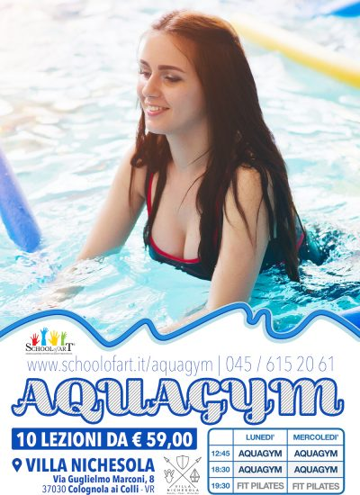 Volantino aquagym a Villa Nichesola - School of Art