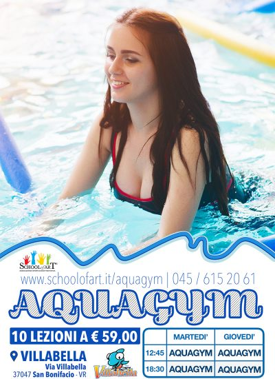 Volantino aquagym a Villabella - School of Art