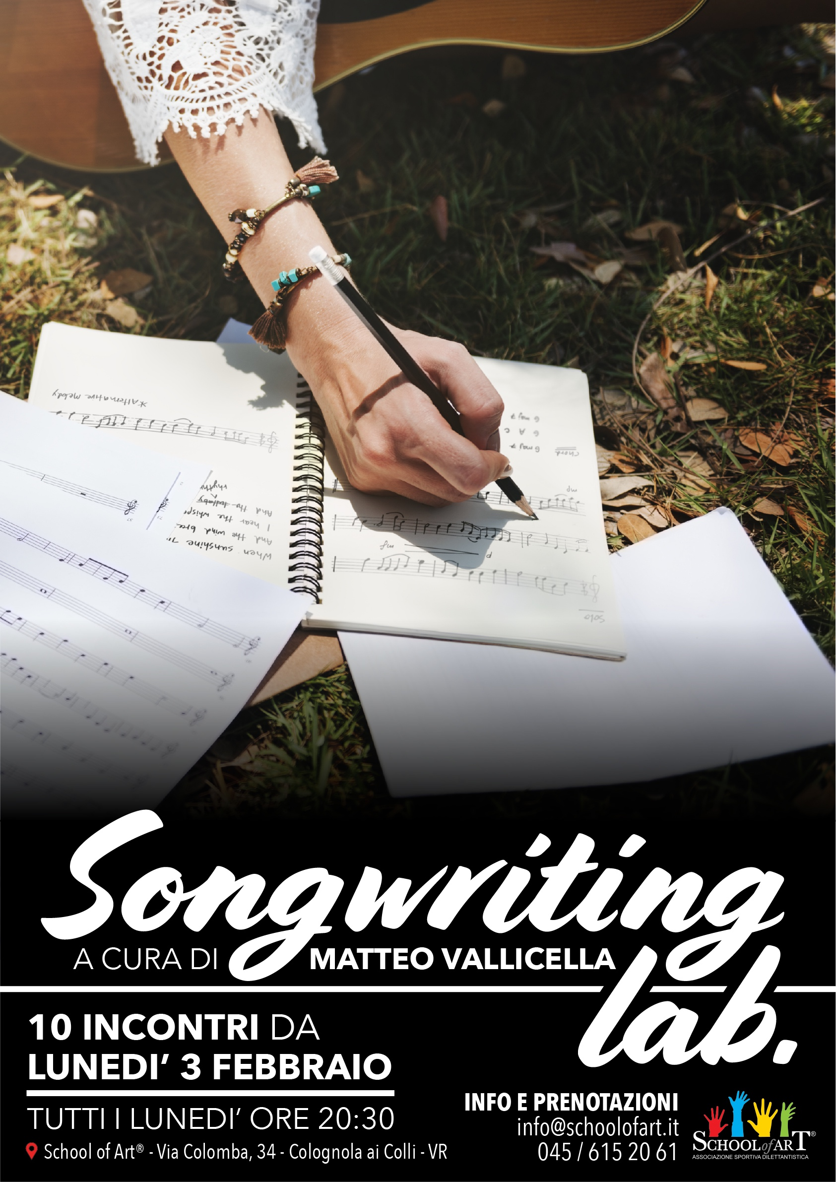 Corso di Songwriting a cura di Matteo Vallicella a Verona e provincia - School of Art®