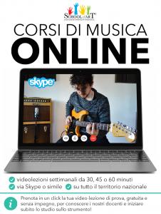 Corsi di musica online in videolezione - School of Art®