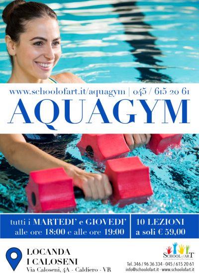 Volantino aquagym 2020 presso Locanda I Caloseni - School of Art®