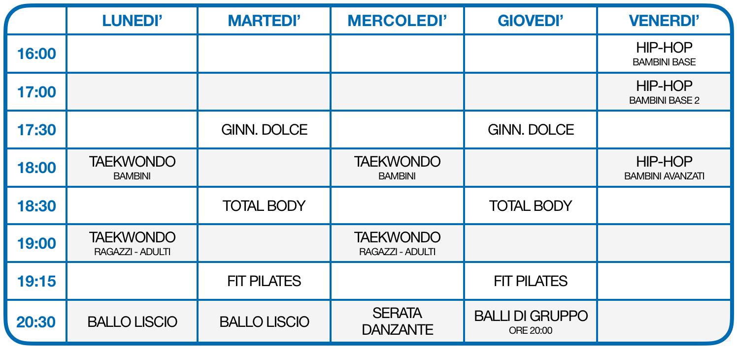 Calendario delle attività 2020-2021 Aquarama 2.0 - Badia Calavena